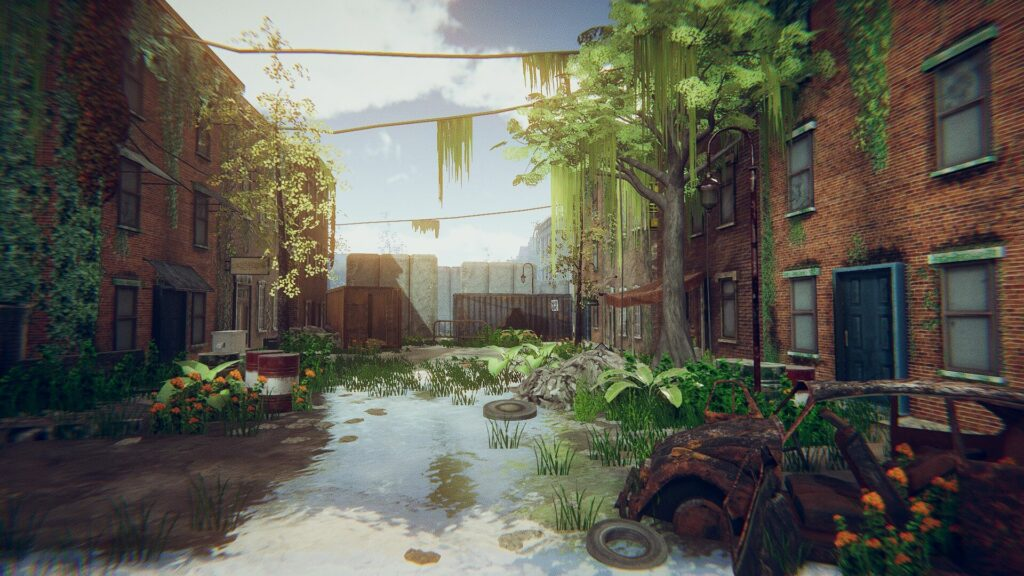 An image showing Abandoned City asset pack, created with Unity Engine