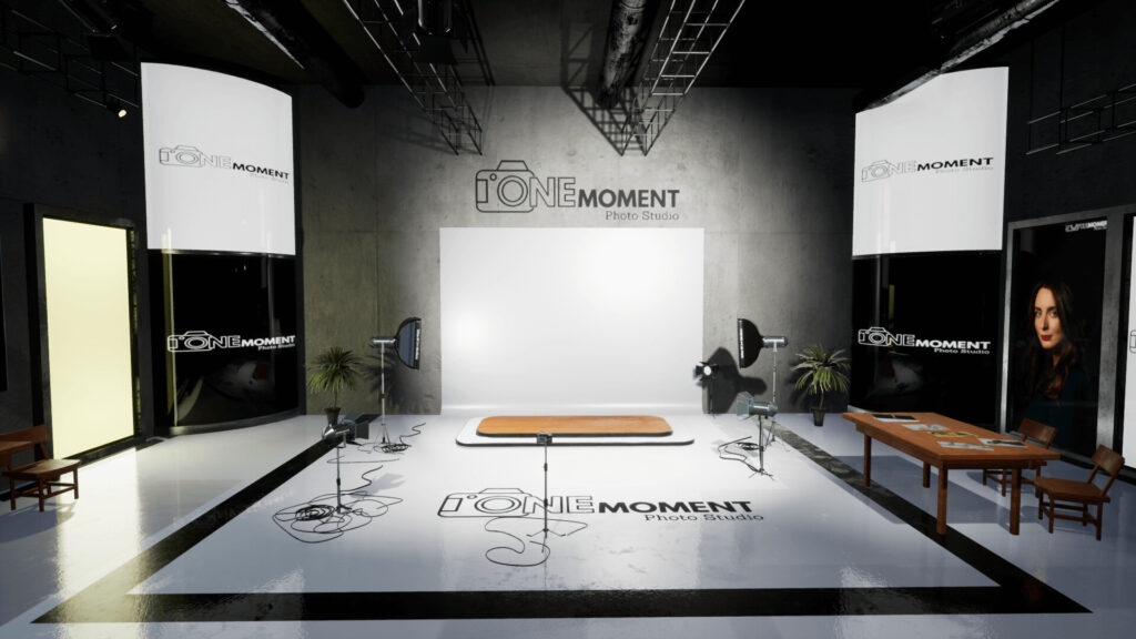 An image showing One Moment Photo Studio asset pack, created with Unreal Engine 4.