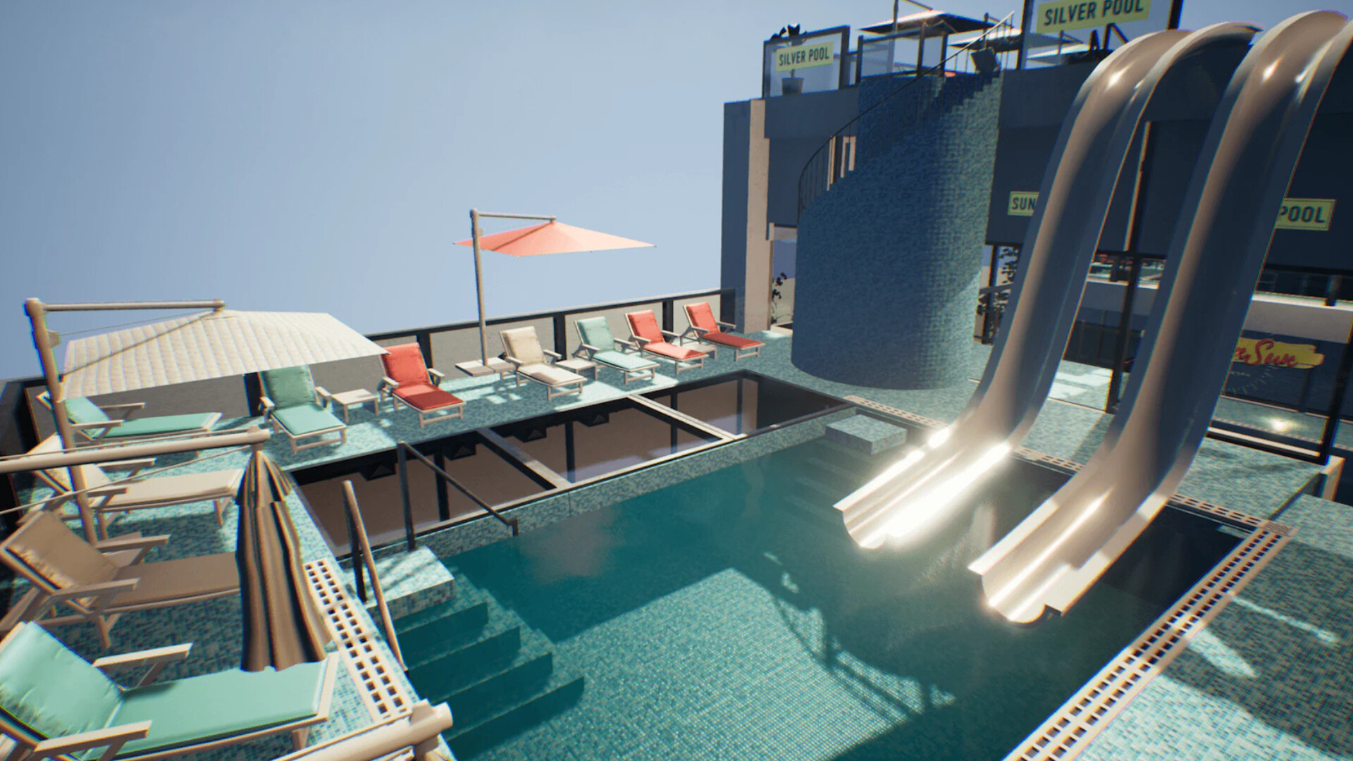 An image showing Water World asset pack, created with Unreal Engine 4.